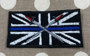 British Army Blue Line Embroidered badge